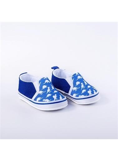 First Step Bebek Turuncu Ayakkabı Lacivert